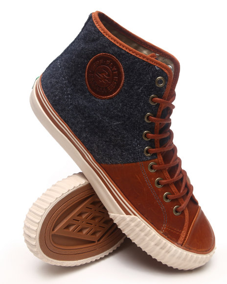 PF Flyers Brown,Grey Center Hi Sneakers