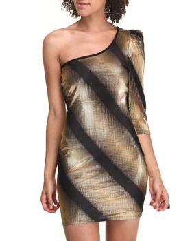 Fashion Lab - One Shoulder Foil Dress