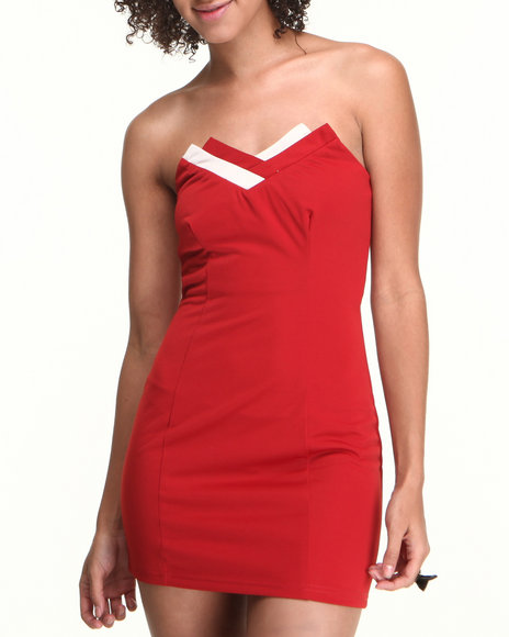 Fashion Lab - Women Red Red Tide Bodycon Dress