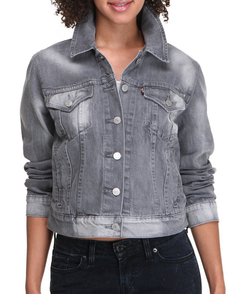 Levi's Women Authentic Trucker Jacket Grey Large