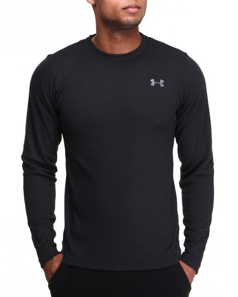 Under Armour Black Waffle Crewneck L/S Shirt