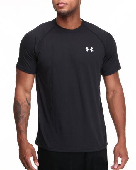 Under Armour Black Tech S/S Tee (Lightweight & Superior Moisture Transport)