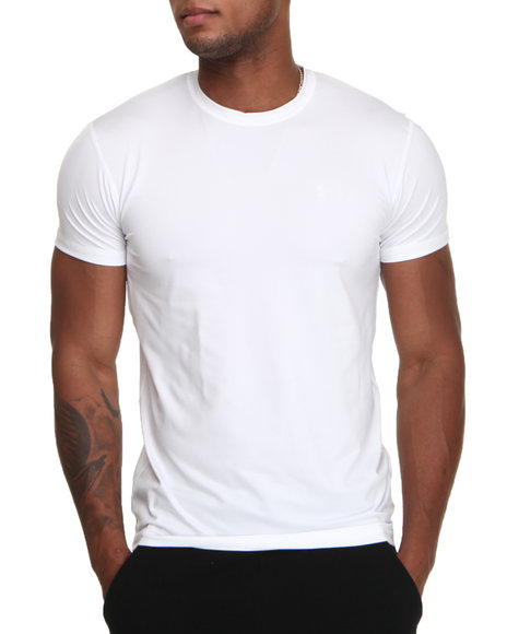 Under Armour Men The Original Fitted Crew Shirt White Medium