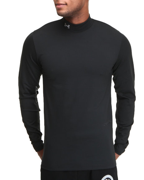 Under Armour Black Coldgear Infrared Evo Cg Mock Neck L/S Shirt (Fast Drying)