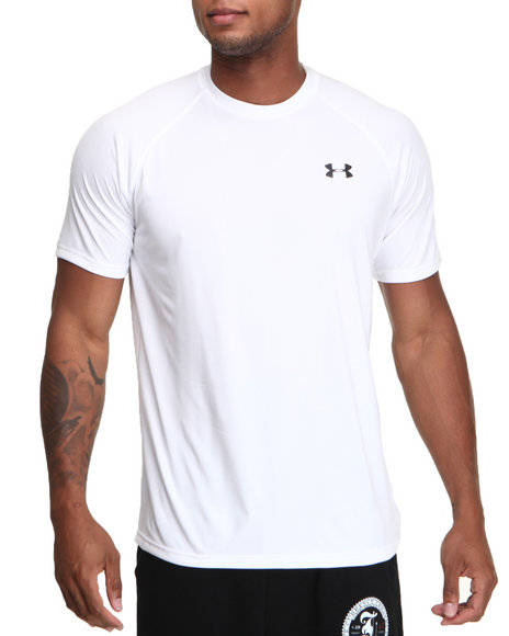Under Armour White Tech S/S Tee (Lightweight & Superior Moisture Transport)