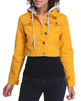 Fashion Lab - Lightweight Denim jacket W/hood