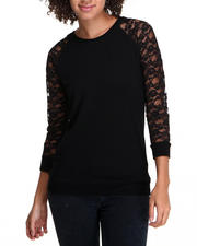 Fashion Lab - Lace Sleeve Pullover