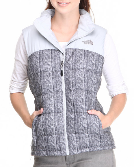 The North Face - Women Grey Novelty Nuptse Vest