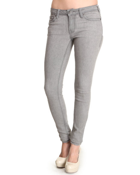 Basic Essentials - Women Grey Basic Skinny Jegging - $13.99