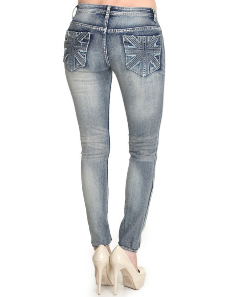 Basic Essentials - Women Blue Union Back Denim Jean