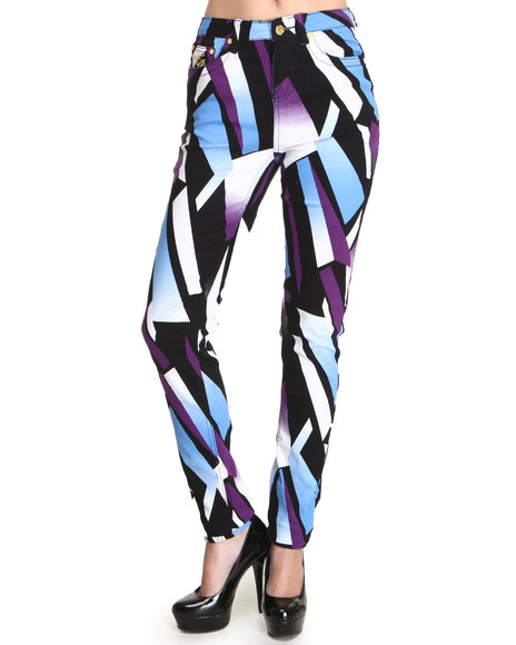 Coogi - Women Black Coogi Color Blocked Jean - $16.99