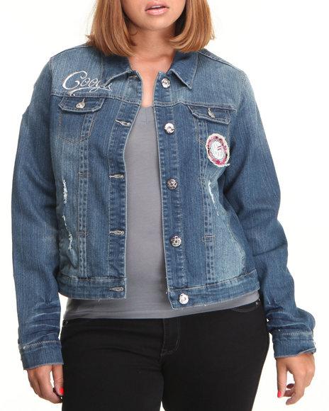 COOGI Blue Coogi Denim Jacket (Plus Size)