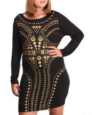 Women - Long Sleeve Sexy Vogue Dress (Plus)