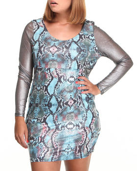 Apple Bottoms - Python Printed Dress (Plus)