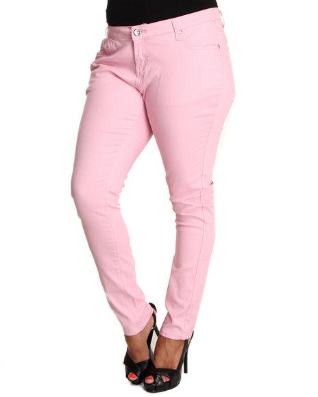 Basic Essentials - Women Pink Skinny Pastel Jean Pants