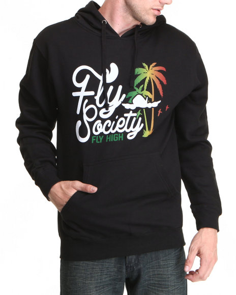 Flysociety Black Fly High Hoodie