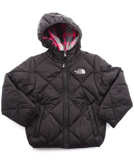 The North Face - Girls Black Reversible Moondoggy Jacket (5-18)