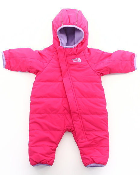 The North Face Girls Pink Toasty Toes Bunting (Infant)