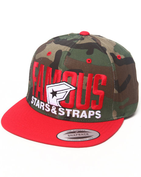 Famous Stars & Straps Blockout Snapback Hat Camo
