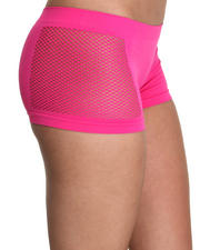 Women - Fishnet Sides Seamless Boyshort