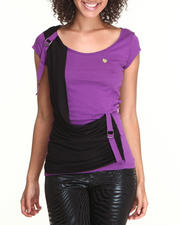 Apple Bottoms - Colorblock Draped Tee