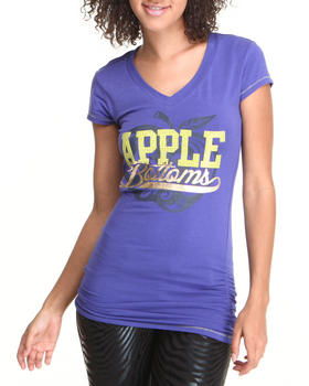 Apple Bottoms - Sexy V-neck Logo Tee