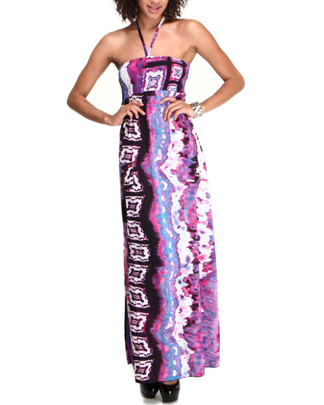 Apple Bottoms - Women Multi Printed Smocked Dress
