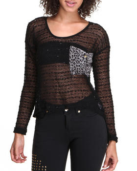 Apple Bottoms - Animal Print Back Fashion Top