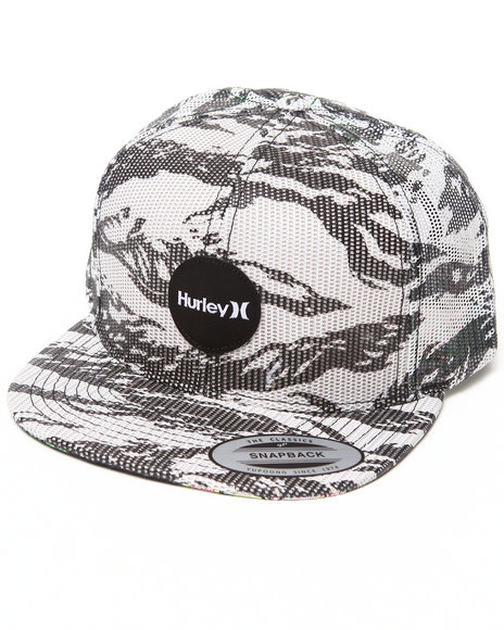 Hurley Flammo Mesher Snapback Cap Off White