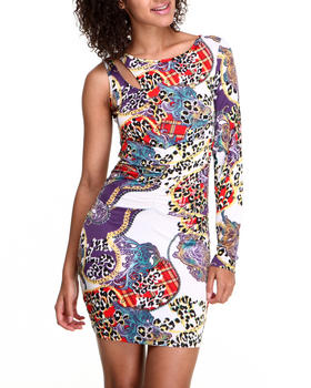 Apple Bottoms - Power Mesh Back Leopard Print Dress