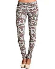 Basic Essentials - Skinny Camo Pants