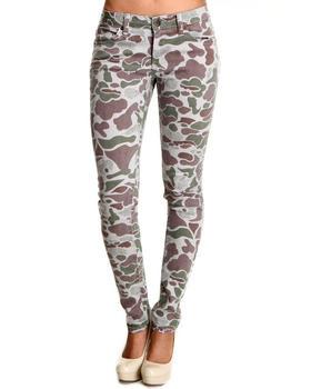 Basic Essentials - Skinny Camo Pants