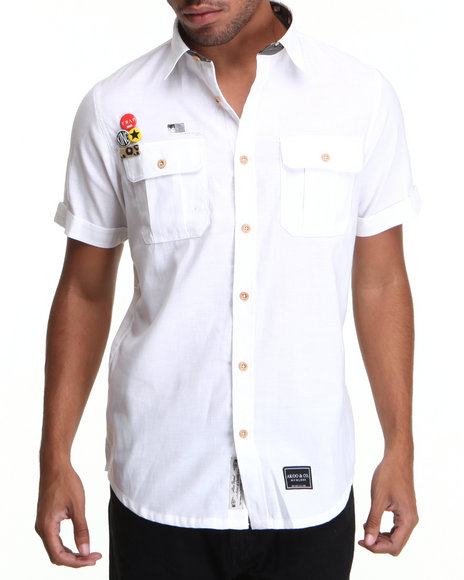 AKOO White Dash S/S Button-Down