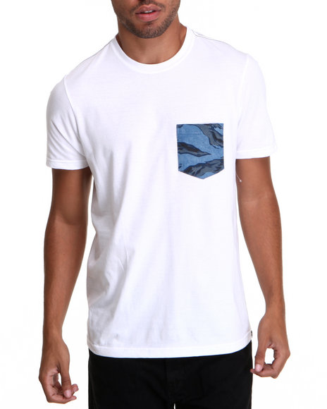 Hurley White Flammo Pocket Tee