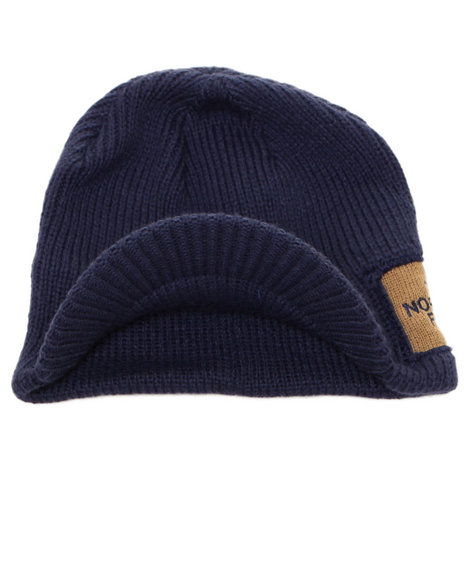 The North Face Boys Navy Sideways Beanie