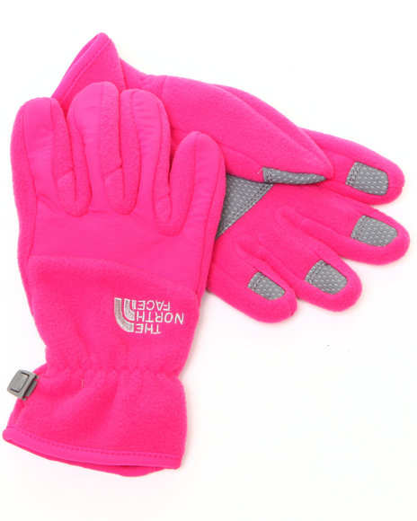 The North Face - Girls Pink Denali Gloves