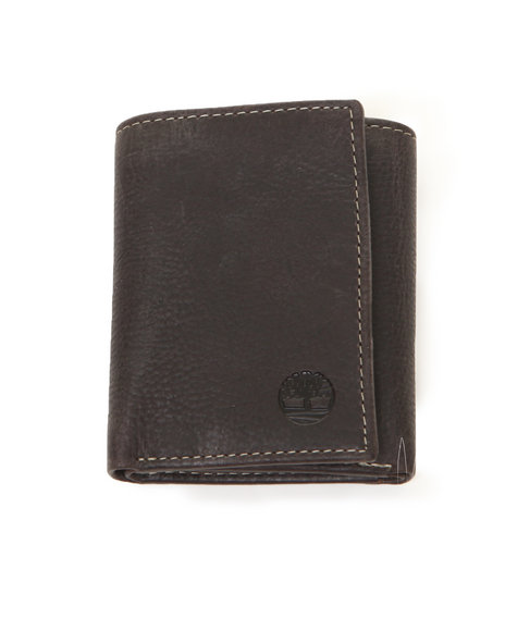 Timberland Men Cow Crunch Trifold Brown Wallet Brown 1SZ