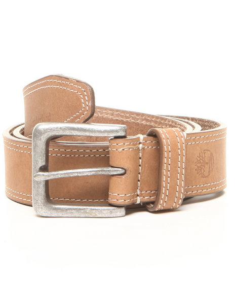 Timberland - Men Wheat Timberland Boot Leather Belt