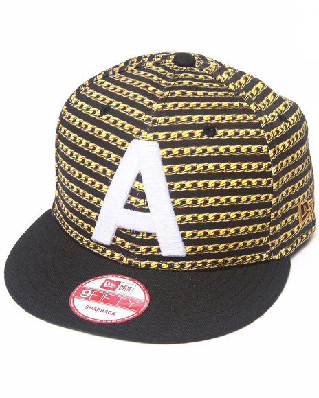Akoo Men Akoo Cuban Link New Era Snapback  Cap Black 1SZ
