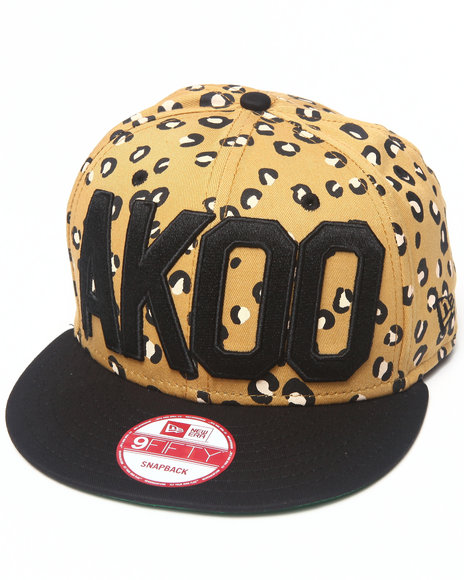 Akoo Men Akoo Spotted Snapback New Era Cap Animal Print 1SZ
