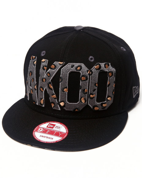 Akoo Men Akoo Flipside New Era Snapback Cap Animal Print 1SZ