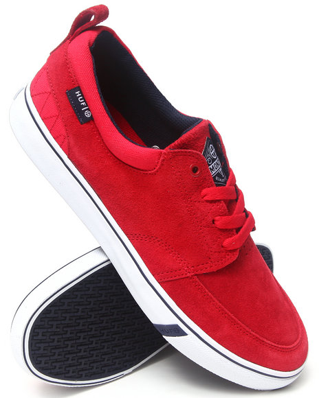 HUF Navy,Red Ramondetta Suede/Canvas Sneakers