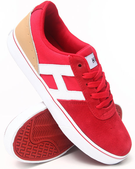 HUF Red Choice Suede/Canvas/Baseball Leather Sneakers