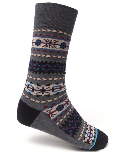 Stance Socks Men Rockland Socks Grey LargeXLarge