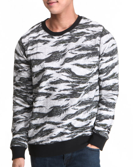 Hurley - Men Camo Flammo Crew Sweatshirt