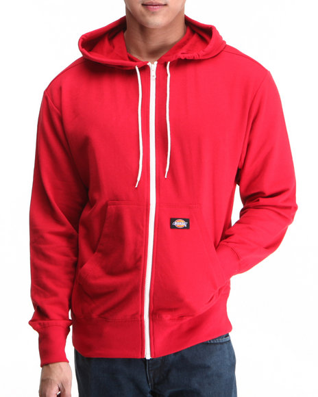 Dickies Men Dickies Lightweight Fleece Hoodie Red Medium