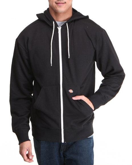 Dickies Men Dickies Lightweight Fleece Hoodie Black Medium