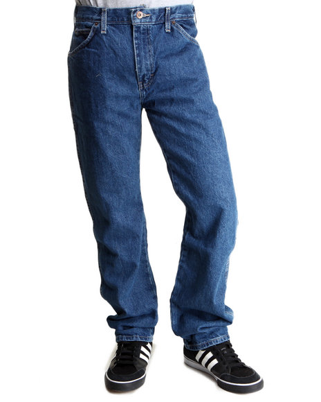 Dickies - Men Medium Wash Straight Fit 6-Pocket Denim Jeans - $17.99