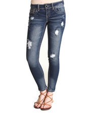 Dollhouse - Distructed Bling Sequin Trim Skinny Jean