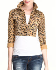 Dollhouse - Cheetah Print Cropped Jacket